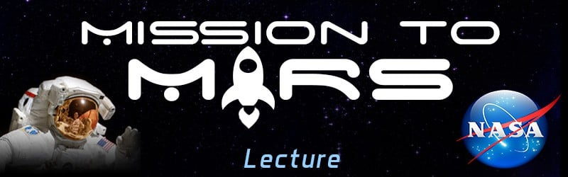 NASA lecture ticket header